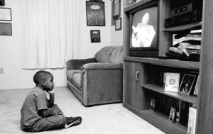 black-african-american-child-kid-watching-tv-television-j186-07-621